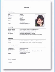 Eine Probe von 19+ Lebenslauf Kenntnisse  Mylop Vorlage Lebenslauf Pc Kenntnisse