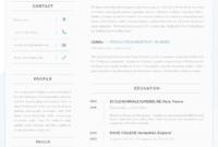 Eine Probe von 43 Modern Resume Templates  Guru Lebenslauf Vorlage Modern English