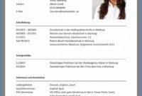 Eine Probe von 8 Lebenslauf Ausbildung Muster Das Beste Von Für Bewerbung Für Vorlage Bewerbung Und Lebenslauf Ausbildung