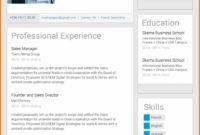 Eine Probe von Fortgeschritten Template Cv Linkedin Linkedin Resume Template Full Vorlage Lebenslauf Linkedin