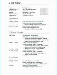Eine Probe von Hervorragend Vorlage Lebenslauf Lehrstelle Kostenlos  Wiring Library Muster Lebenslauf Lehrstelle