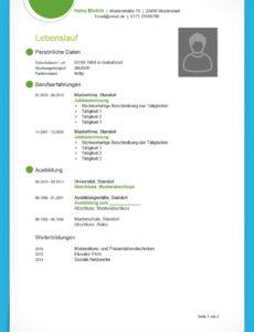 Eine Probe von  Lebenslauf Vorlage Modern (Kostenloser Download) Lebenslauf Vorlage Modern Xing