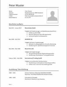 Eine Probe von  Trend Bewerbungsschreiben Vorlage Schweiz Pflege Lebenslauf Schweiz Lebenslauf Vorlage Schweiz Pflege