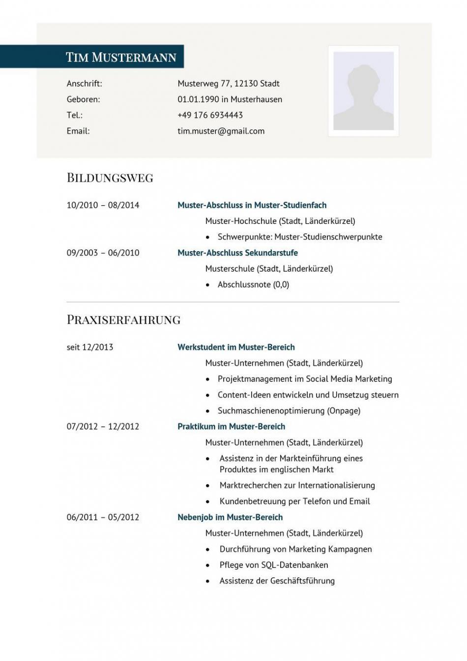 Lebenslauf Muster Vorlage 29 Manager 1  Resume (D) Vorlage Lebenslauf Pinterest