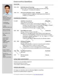 Porbe von  17+ Bewerbung Jobwechsel  Isgegitimkalitesi Lebenslauf Vorlage Jobwechsel