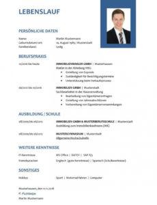 Porbe von 9+ Lebenslauf Beispiel Ausbildung  Tchoups Market Muster Lebenslauf Mit Ausbildung