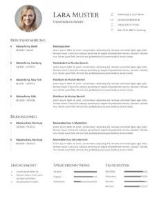 Porbe von  Bewerbung: Muster & Vorlagen  Kostenlos Zum Download  Cv Design Vorlage Lebenslauf Pinterest