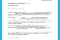 Porbe von Bewerbungsvorlage Ausbildung (Kostenloser Download) Vorlage Bewerbung Und Lebenslauf Ausbildung