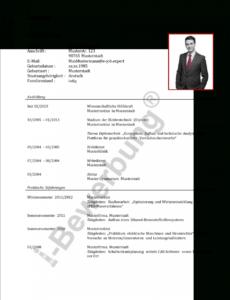 Porbe von Initiativbewerbung Als Elektroingenieur (Muster Lebenslauf) Vorlage Lebenslauf Elektroingenieur