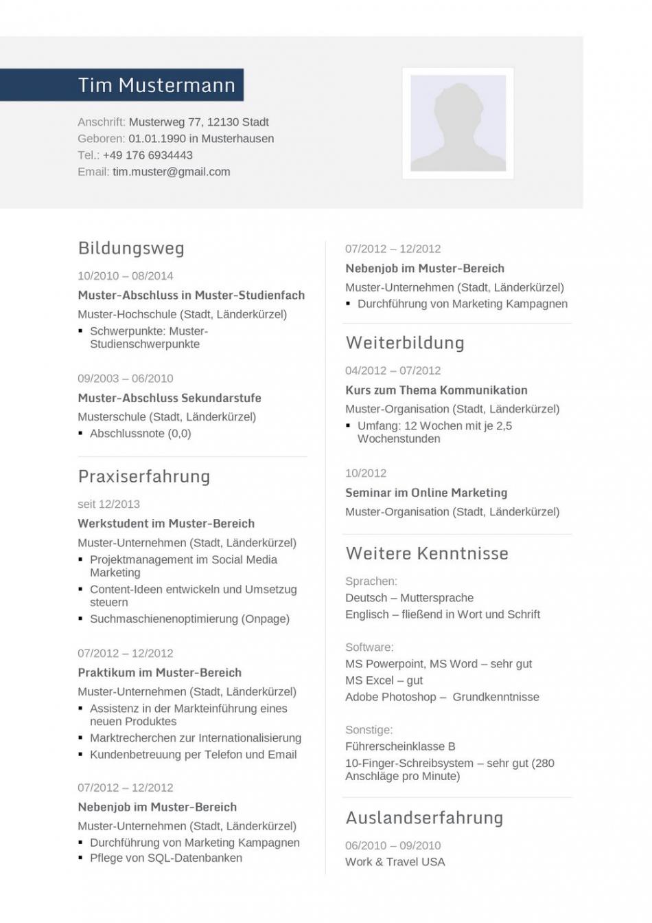 Porbe von  Lebenslauf Muster Für Ingenieur  Lebenslauf Designs Vorlage Lebenslauf Bauingenieur