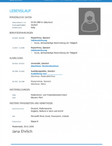 Porbe von  Lebenslauf Vorlage Modern (Kostenloser Download) Lebenslauf Vorlage Modern Xing