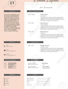 Porbe von Vestor Kreative Lebenslauf Vorlage Minimalistic Rosa Und Weißen Lebenslauf Vorlage Rosa