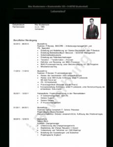 Porbe von Vorlage Lebenslauf Initiativbewerbung Edvsystemtechniker Muster Lebenslauf It