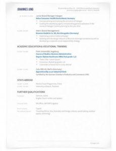 von Lebenslauf Englisch  Cv Oder Résumé  Unterschiede Lebenslauf Englisch Resume Vorlage