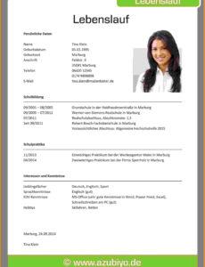 10 Bewerbung Lebenslauf Vorlage Tolle Für Lebenslauf Ausbildung Vorlage Lebenslauf Bewerbung Ausbildungsplatz