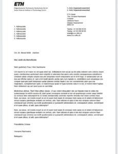 11+ Briefkopf Geschäftsbrief  Rigarda Vorlage Lebenslauf Eth
