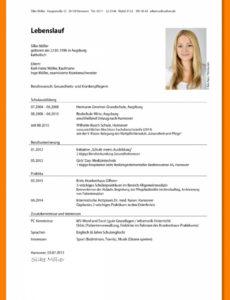 14+ Tabellarischer Lebenslauf Studium  Hostaix Muster Tabellarischer Lebenslauf Studium