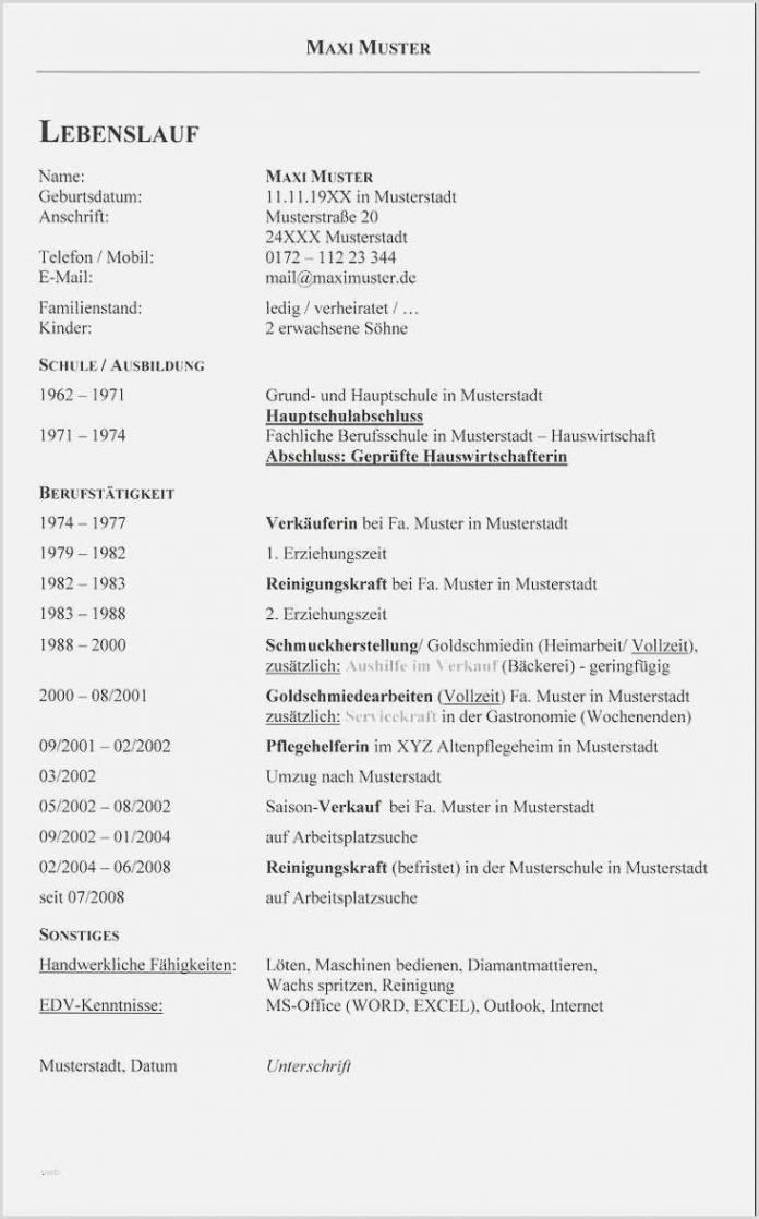 15+ Tabellarische Lebenslauf Muster  Jrobinberry Lebenslauf Vorlage Hauptschule