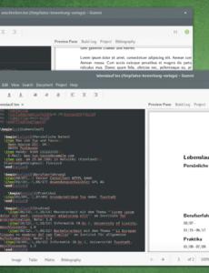 Bewerbung Mit Hilfe Von Latexvorlagen Unter Ubuntu Oder Arch Linux Lebenslauf Vorlage Ubuntu