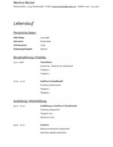 Bewerbung Reinigungskraft  Kostenlose Muster / Vorlagen & Tipps! Lebenslauf Vorlage Rentner