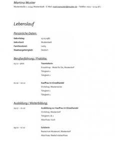 Bewerbung Reinigungskraft  Kostenlose Muster / Vorlagen & Tipps! Vorlage Lebenslauf Reinigungskraft