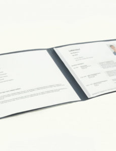 Die Bewerbungsmappe Im Querformat  Bewerbungswissen Lebenslauf Vorlage Foto Quer