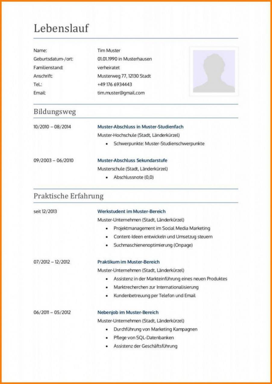 Eine Probe von  11+ Lebenslauf Bewerbung Ausbildung  Five And Tenpress Vorlage Lebenslauf Bewerbung Ausbildung