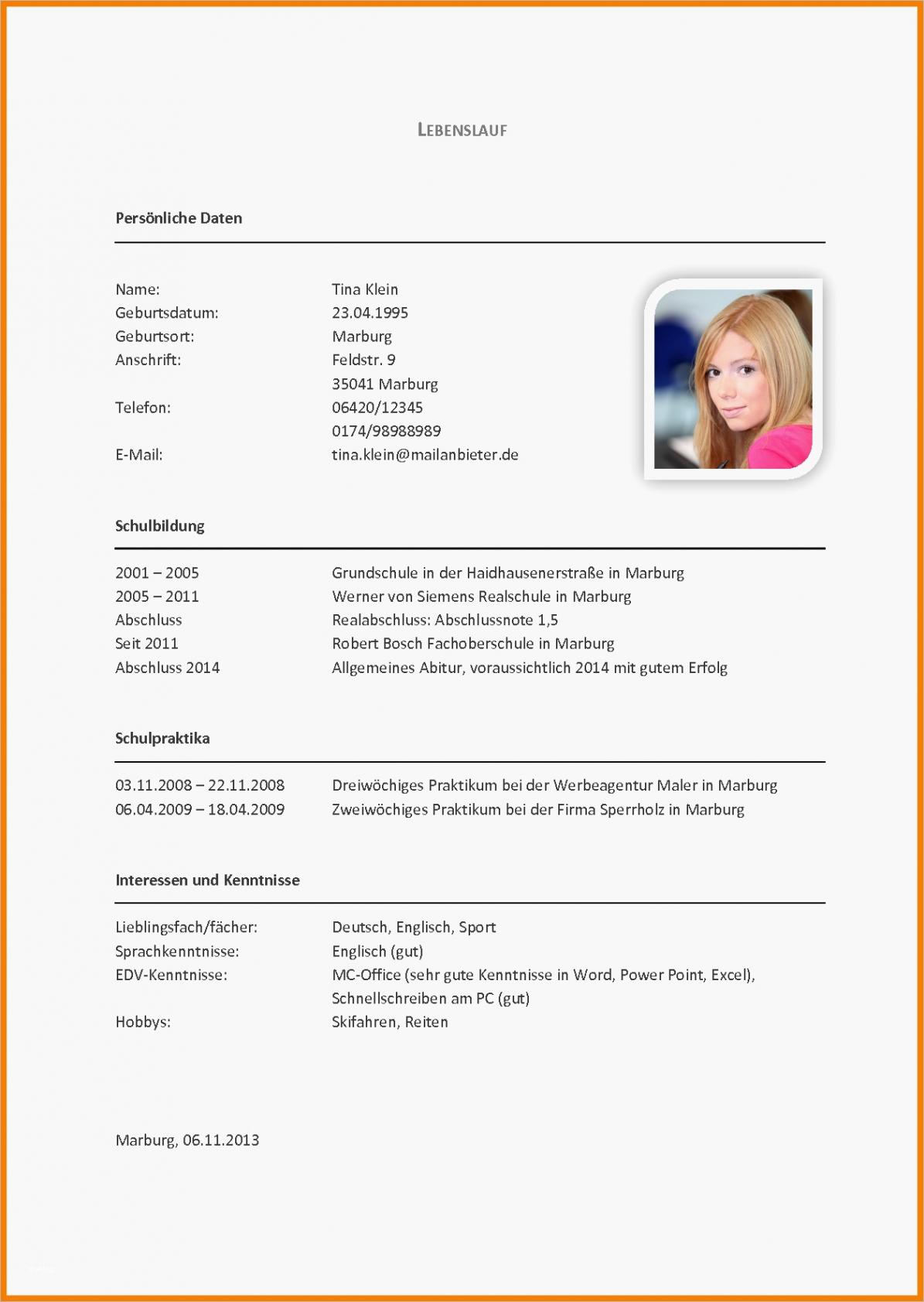 Eine Probe von  12+ Lebenslauf Beispiel Deutsch  Commlinks Lebenslauf Vorlage Uzh