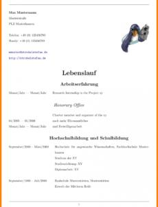 Eine Probe von  14+ Vorlage Lebenslauf Latex  Mylop Vorlage Lebenslauf Latex
