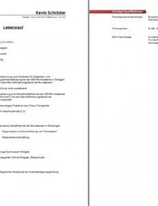 Eine Probe von  15+ Lebenslauf Beispiel 2013  Kzfxfm Vorlage Lebenslauf Niederlande