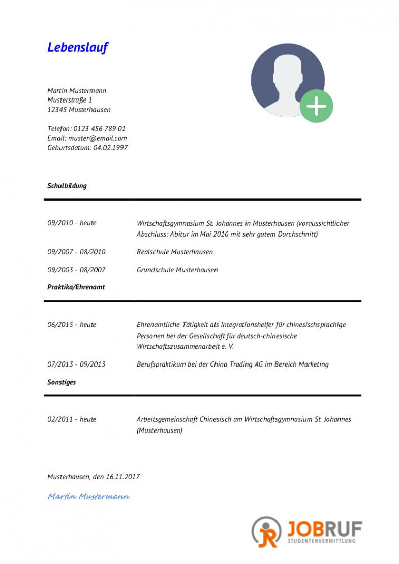 Eine Probe von  15+ Tabellarischer Lebenslauf Studium Muster  Attiyada Wood Lebenslauf Muster Ausbildung Und Studium