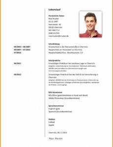 Eine Probe von  15+ Tabellarischer Lebenslauf Studium Muster  Attiyada Wood Tabellarischer Lebenslauf Vorlage Pages Mac
