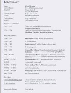 Eine Probe von  18+ Bundeswehr Lebenslauf  Secret Life Symposium Muster Lebenslauf Tabellarisch Bundeswehr
