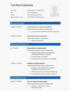 Eine Probe von  20+ Xing Lebenslauf Vorlage  Rmicaa Lebenslauf Vorlage Von Xing
