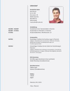 Eine Probe von  20+ Xing Lebenslauf Vorlage  Rmicaa Vorlage Lebenslauf Hobbys