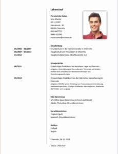 Eine Probe von  7+ Lebenslauf Vorlage Für Schülerpraktikum  Emovoid Lebenslauf Vorlage Schweiz Praktikum