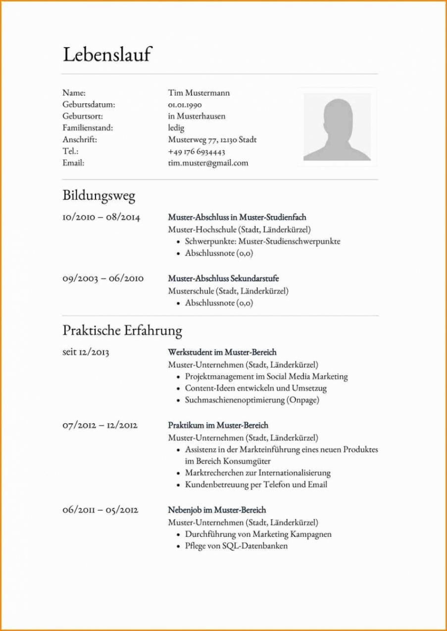 Eine Probe von  Akzeptabel Lebenslauf Student Schweiz Eulebenslaufbeispiel, Eu Lebenslauf Vorlage Schweiz Student