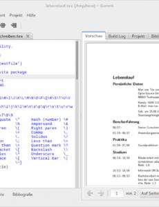 Eine Probe von  Bewerbung Mit Hilfe Von Latexvorlagen Unter Ubuntu Oder Arch Linux Lebenslauf Vorlage Ubuntu