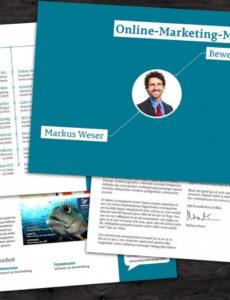 Eine Probe von  Bewerbungsvorlage Onlinemarketingmanager Der Hingucker Im Lebenslauf Vorlage Foto Quer