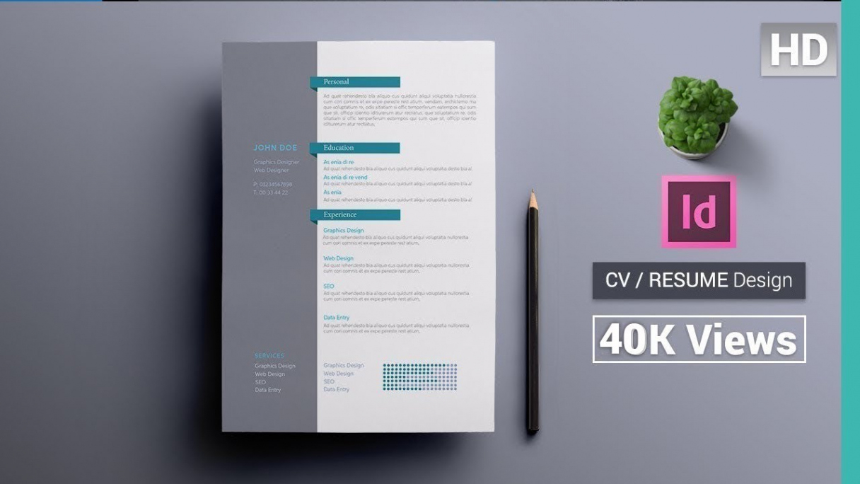Eine Probe von  ✪ How To Create A Cv/resume Template In Indesign : Indesign Vorlage Lebenslauf Indesign