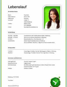 Eine Probe von  Frisch Lebenslauf Schreiben Muster Xing  Usmanahmed Lebenslauf Vorlage Schüler Xing