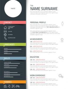 Eine Probe von  Graphic Designer Job Description Personal Profile  Desks  Resume Vorlage Lebenslauf Grafik