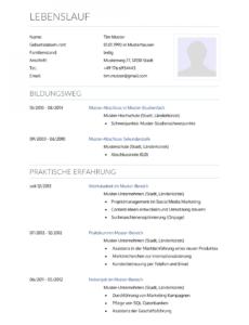 Eine Probe von  Initiativbewerbung: Muster Für Krankenpfleger  Lebenslaufdesignsde Vorlage Lebenslauf Krankenschwester