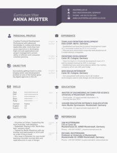 """Eine Probe von  Lebenslauf Auf Englisch: Tipps Für Den """"cv""""  Mystipendium Lebenslauf Englisch Vorlage Mit Bild"""