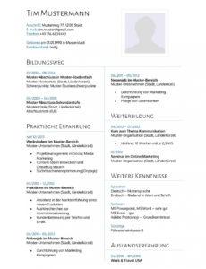 Eine Probe von  Lebenslauf Muster 14  Lebenslaufdesignsde Vorlage Lebenslauf Wissenschaft