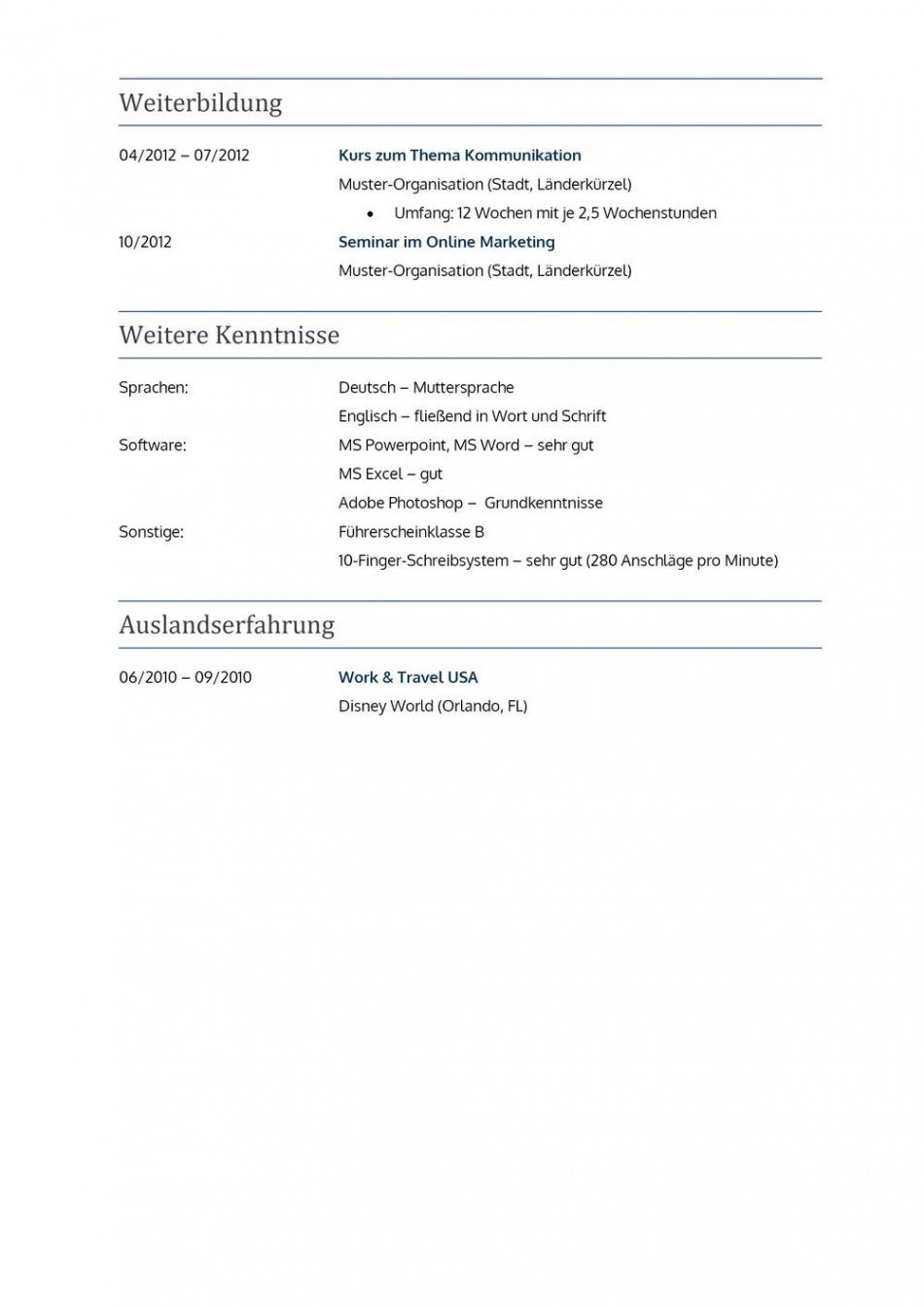 Eine Probe von  Lebenslauf Muster Für Lehrer  Lebenslauf Designs Vorlage Tabellarischer Lebenslauf Referendariat
