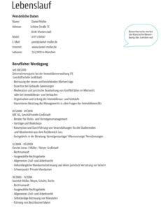 Eine Probe von  Muster: Bewerbungsvorlage Für Anwälte Und Justisten Vorlage Lebenslauf Jurist