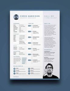 Eine Probe von  Onepage Resume Templates: 15 Examples To Download And Use Now Vorlage Lebenslauf One Pager