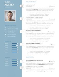 Eine Probe von  Premium Bewerbungsmuster 1  Lebenslaufdesignsde Vorlage Lebenslauf Kreativ