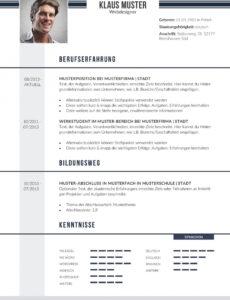 Eine Probe von  Premium Bewerbungsmuster 2  Lebenslaufdesignsde Vorlage Lebenslauf Zwei Seiten